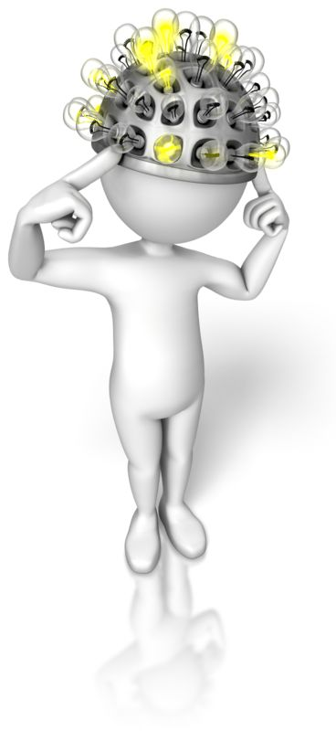 Clipart - Stick Figure Thinking Cap