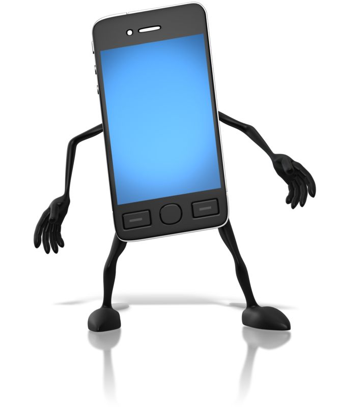 Clipart - Smart Phone Character