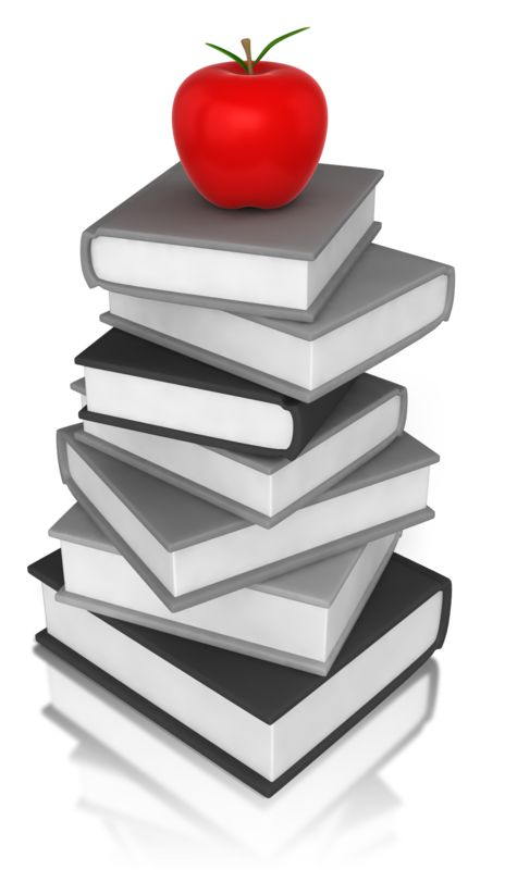 Clipart - Apple On Book
