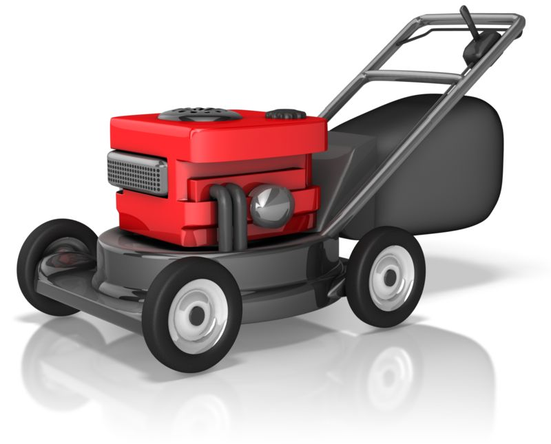Clipart - Rugged Lawnmower