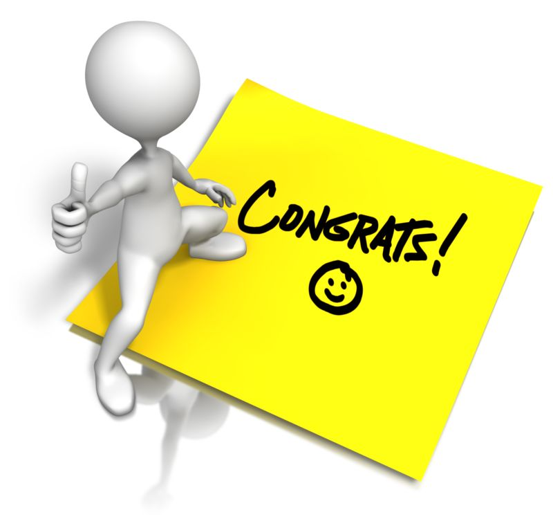 Clipart - Congrats Sticky Note