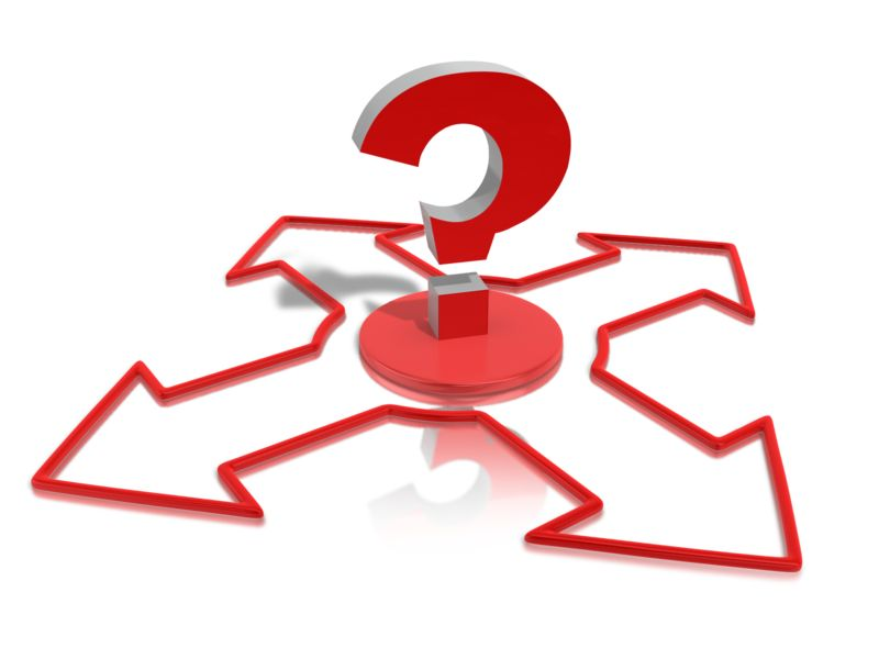 Clipart - Question The Direction
