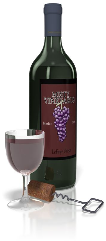 Clipart - Wine And Glass Set