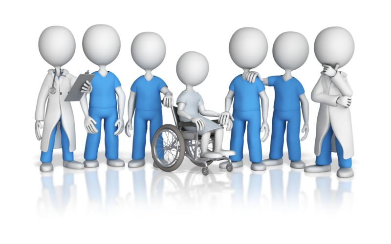 Clipart - Patient Surrounded By Medical Team