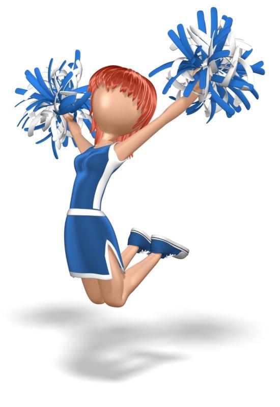 Clipart - Cheerleader Jump