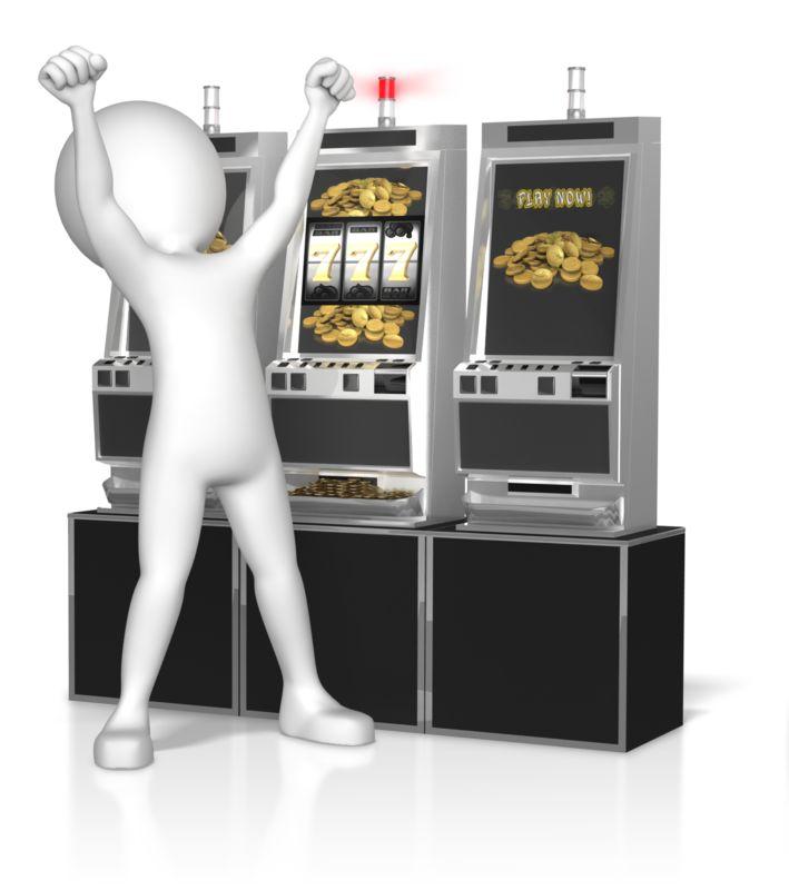 Clipart - Figure Slot Machine Win
