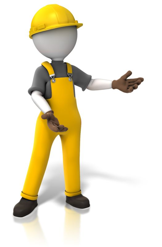 Clipart - Construction Worker Display