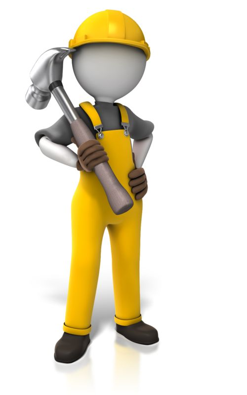 Clipart - Construction Worker Hammer