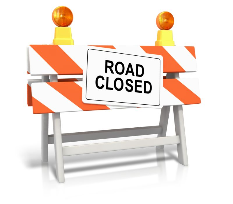 Clipart - Road Closed Sign