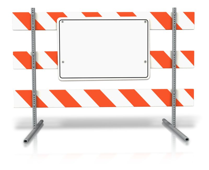 Clipart - Stand Up Road Sign Blank