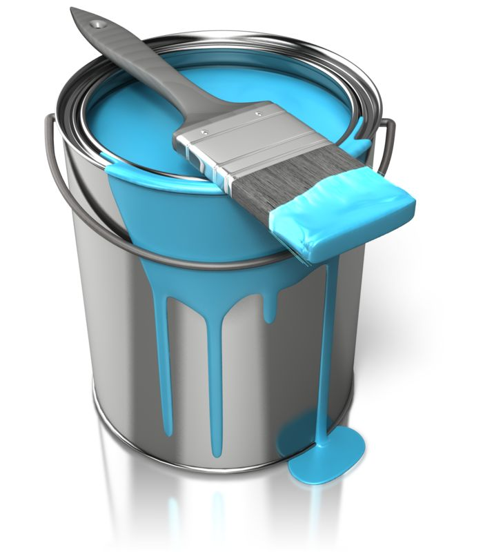 Clipart - Paint Can With Brush