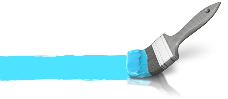 Clipart - Painting Horizontal Line