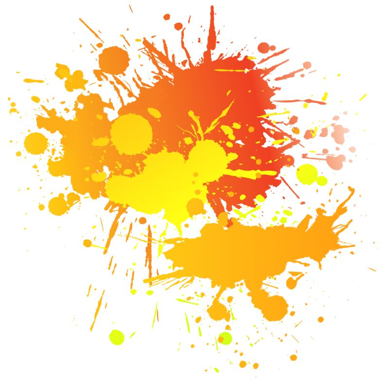 Clipart - Painting Splatter Complimentary