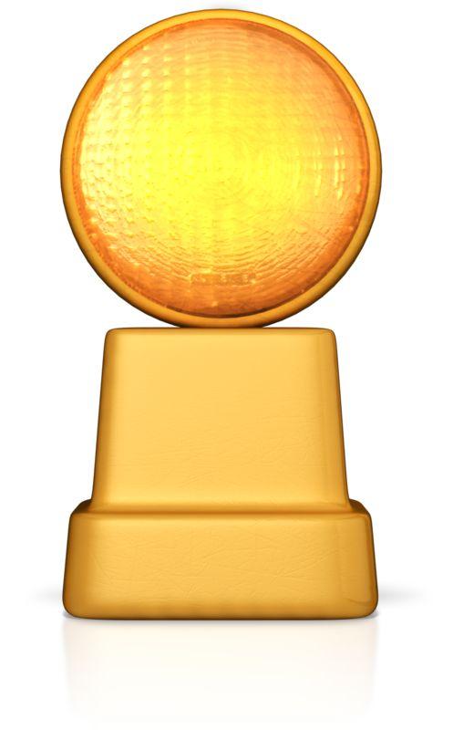 Clipart - Caution Road Sign Light