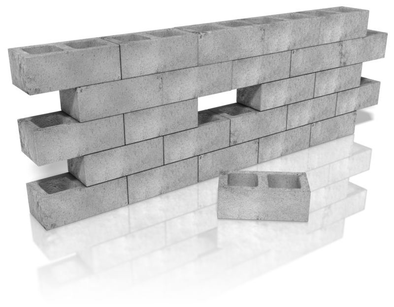 Clipart - Cinder Block Wall Hole