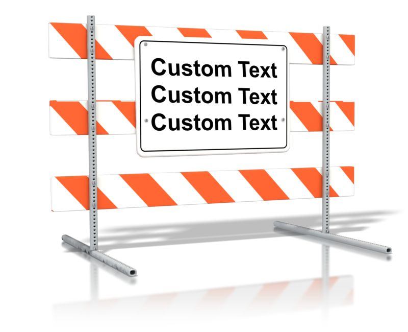 This Presentation Clipart shows a preview of Standing Road Sign Blank Text