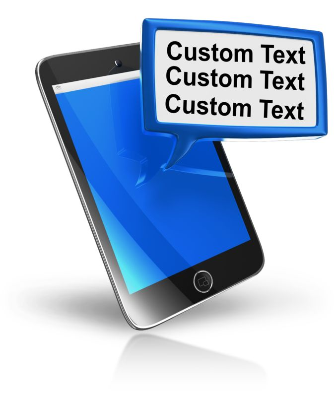 This Presentation Clipart shows a preview of Smart Phone Texting Block Text