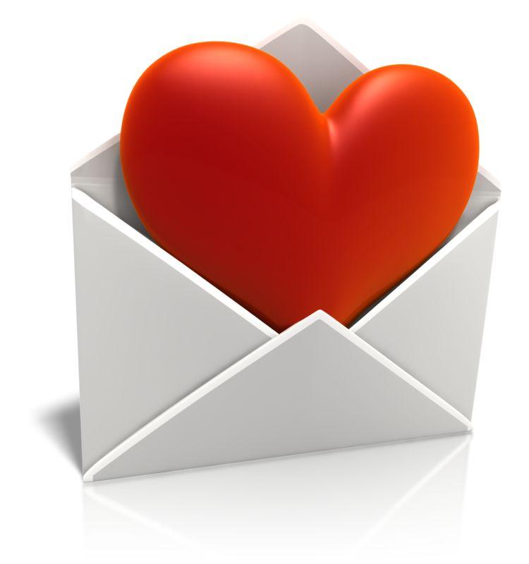 Clipart - Sending Love Envelope