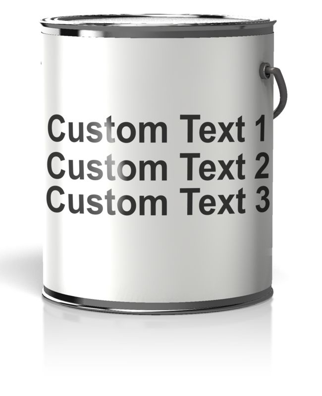 This Presentation Clipart shows a preview of Paint Can Blank Label Text