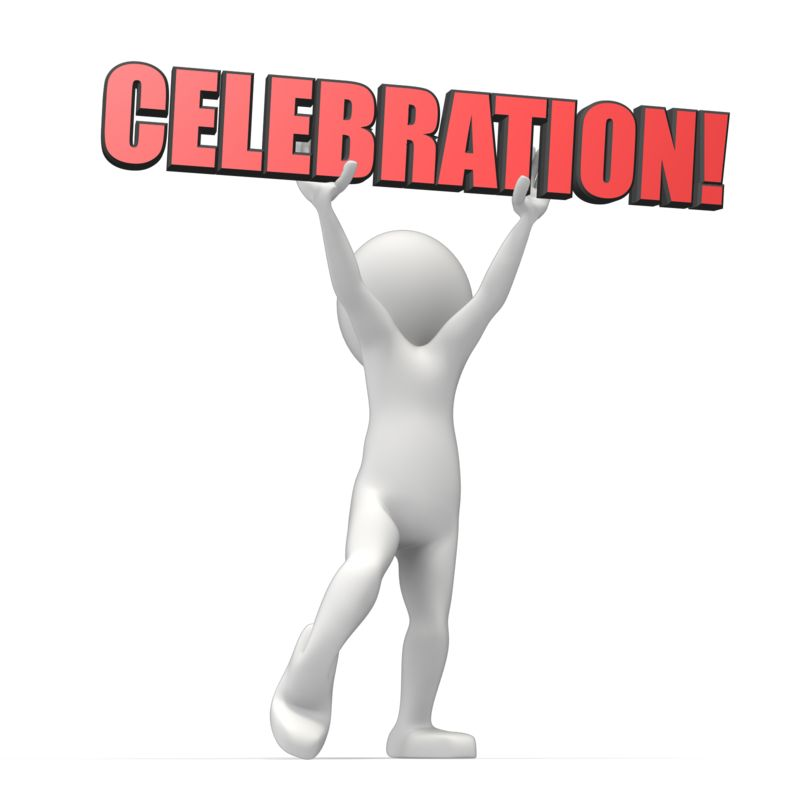 This Presentation Clipart shows a preview of Celebration Text