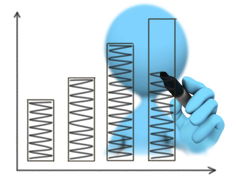 Clipart - Figure Drawing Bar Graph Increase