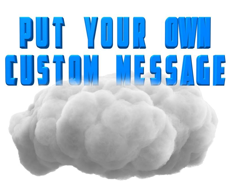 This Presentation Clipart shows a preview of Fluffy Cloud Text