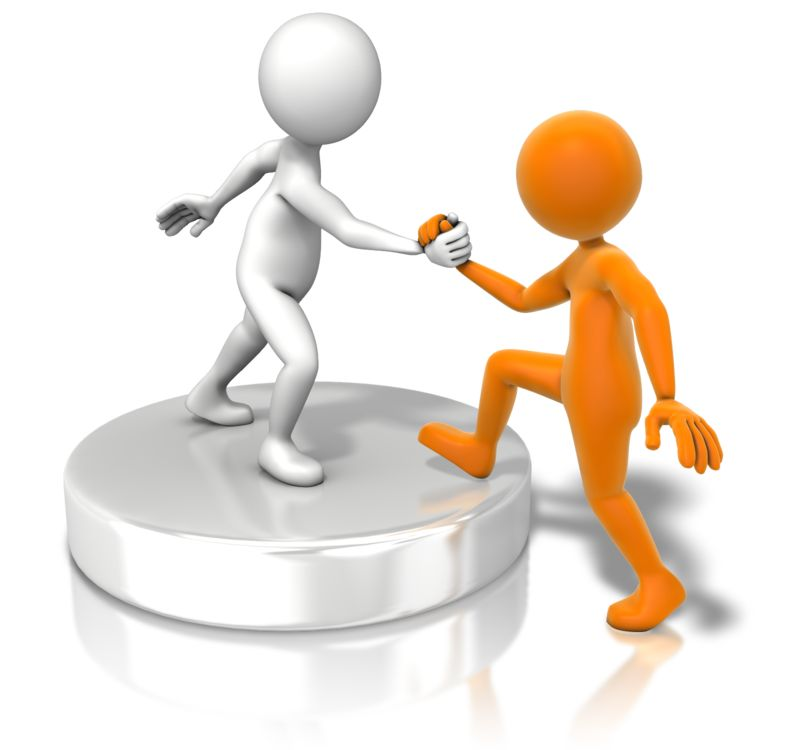 Clipart - Figure Helping Up Buddy
