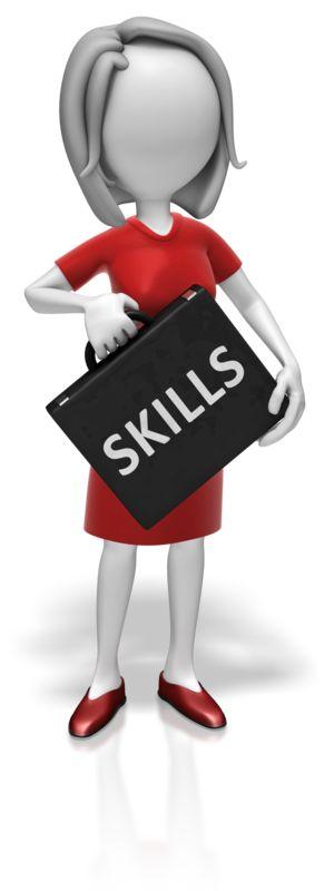Clipart - Businesswoman Skills Briefcase