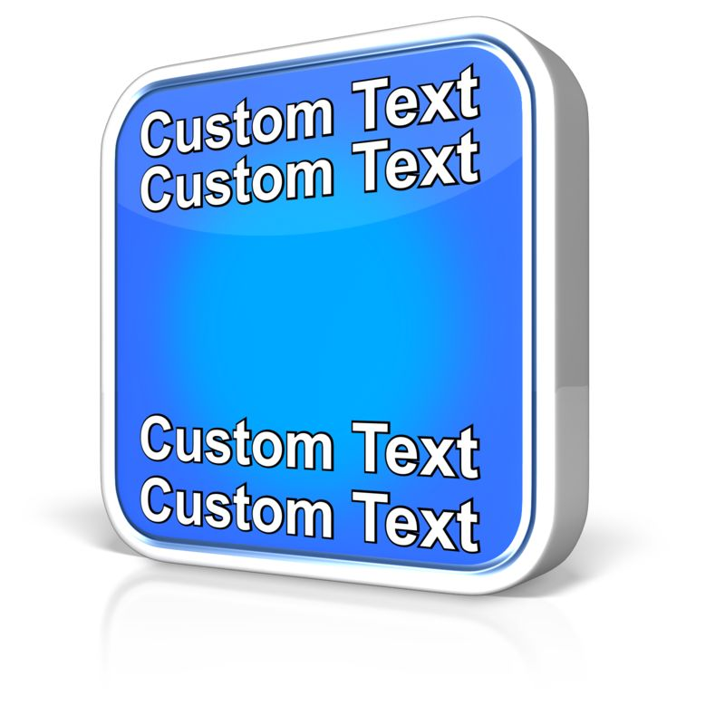 This Presentation Clipart shows a preview of Blank App Text
