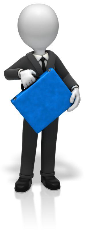 Clipart - Businessman Briefcase