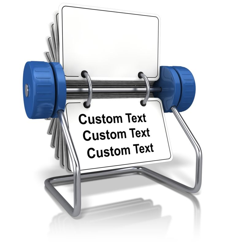 This Presentation Clipart shows a preview of Front Facing Office Card Holder Text