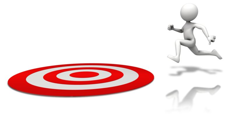Clipart - Figure Running To Target