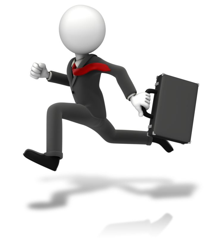 Clipart - Businessman Running Suit