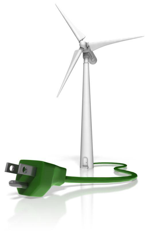 Clipart - Wind Turbine Power Cord