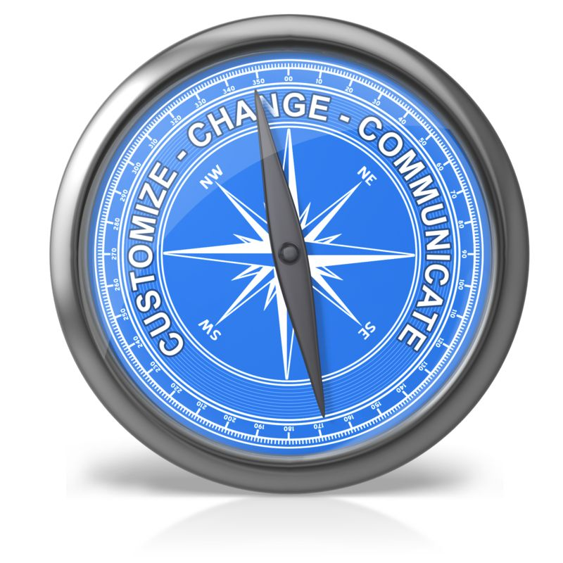 This Presentation Clipart shows a preview of Compass Text