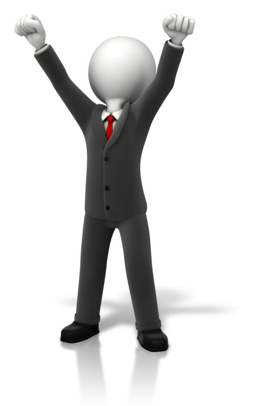 Clipart - Business Celebration Arms Up