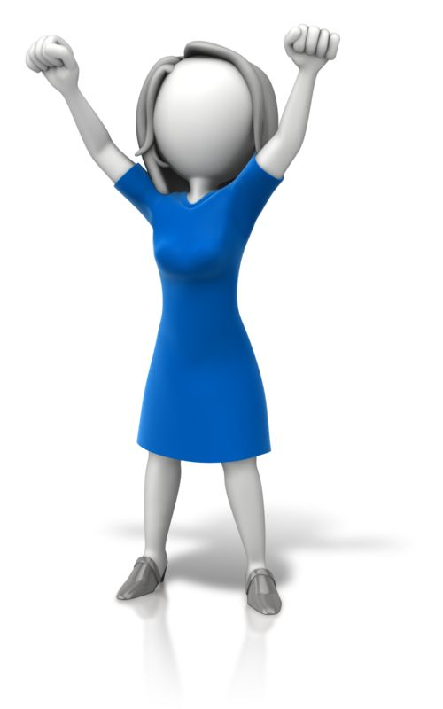 Clipart - Woman Celebration Arms Up