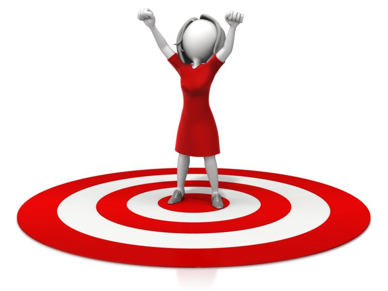 Clipart - Woman Celebration On Target