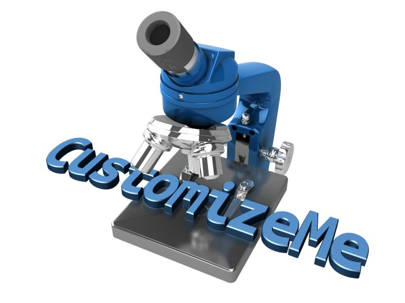 This Presentation Clipart shows a preview of Microscope Text
