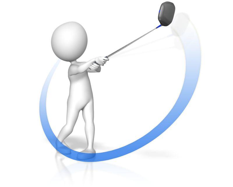 Clipart - Golf Swing Swoop