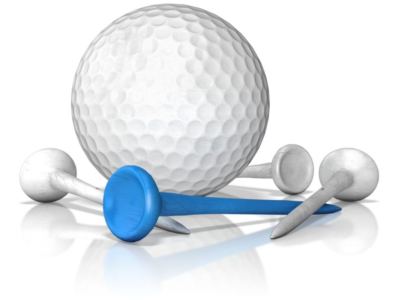 Clipart - Golf Ball And Tee Standout