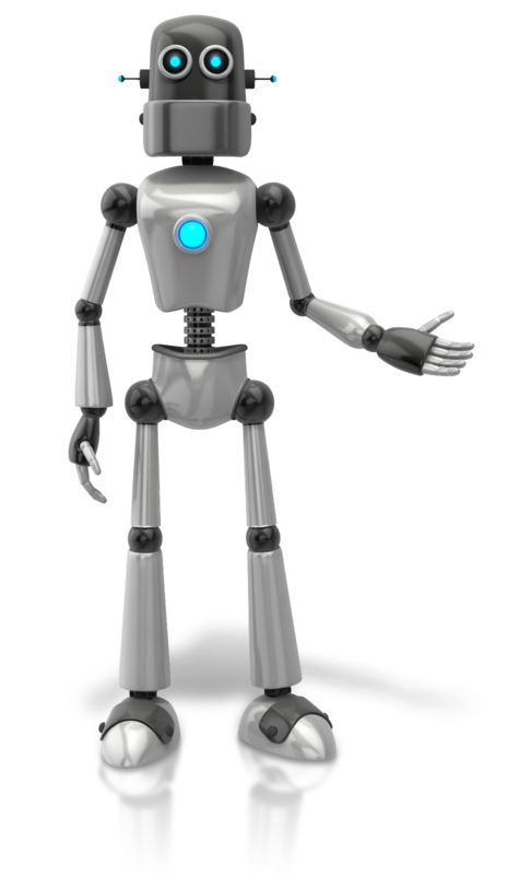 Clipart - Retro Robot Presenting To Side