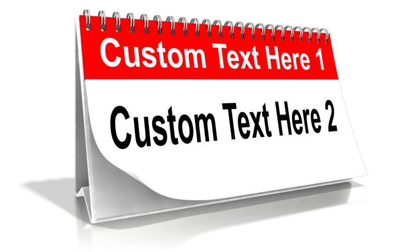 This Presentation Clipart shows a preview of Custom Calendar