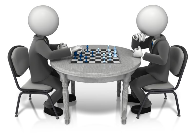 Clipart - Competitor Playing Chess