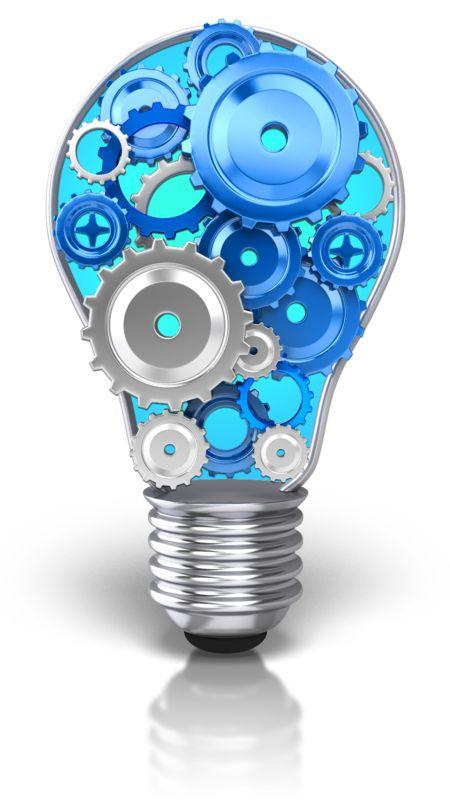 Clipart - Light Bulb Idea Gears