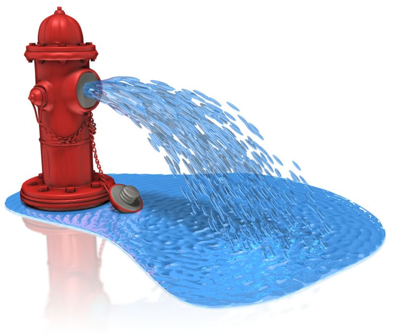 Clipart - Fire Hydrant Spray Water