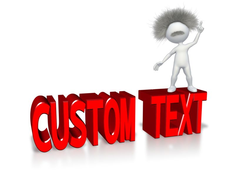 This Presentation Clipart shows a preview of Smart Stick Figure With Custom Text