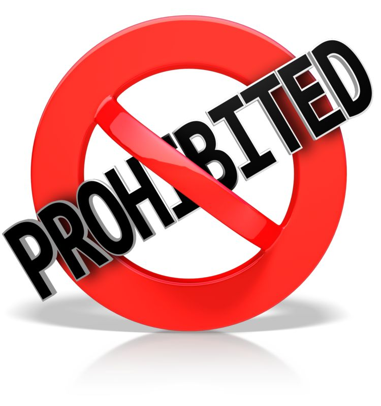 This Presentation Clipart shows a preview of Prohibited Text