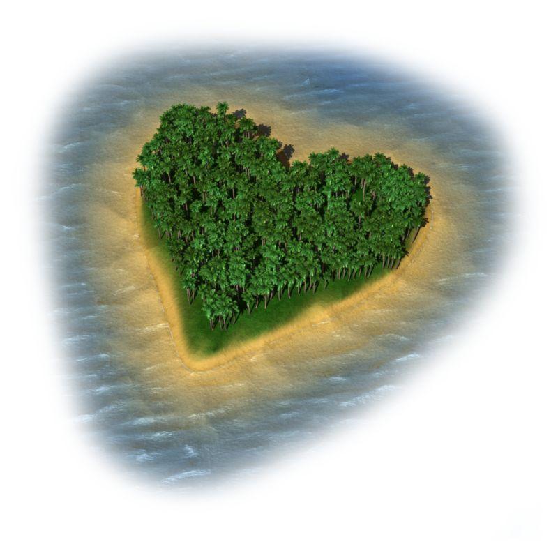Clipart - Heart Island