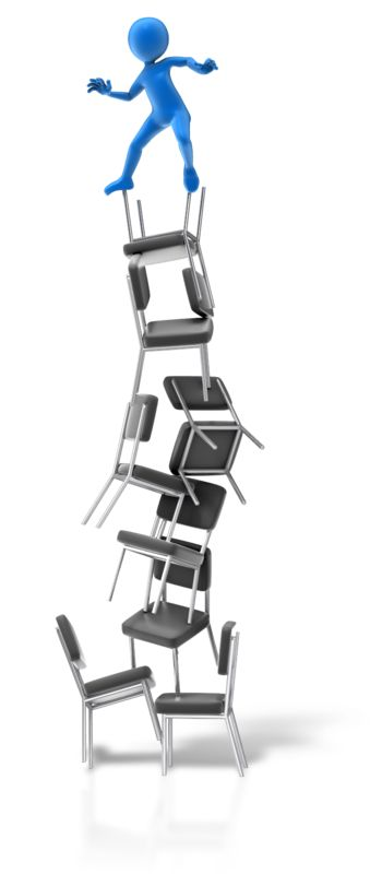 Clipart - Balance On Chairs